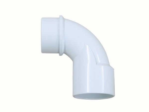 "Polished PVC Elbow Fittings 2"" Socket x 2"" Spigot  , 90 Deg Plastic Pipe Elbow"